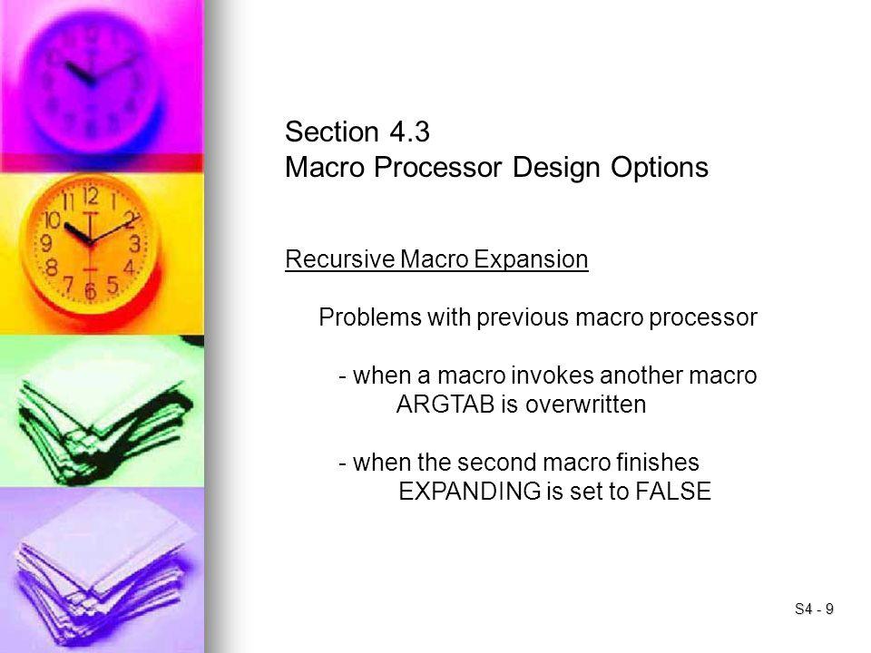 Macro Processor Design Options