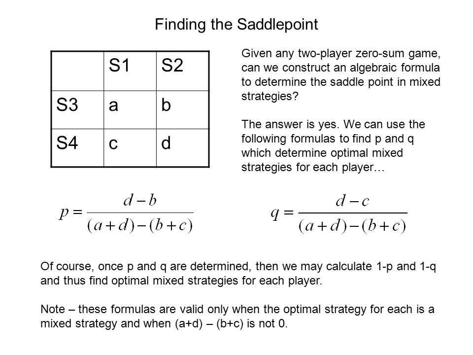 Finding the Saddlepoint