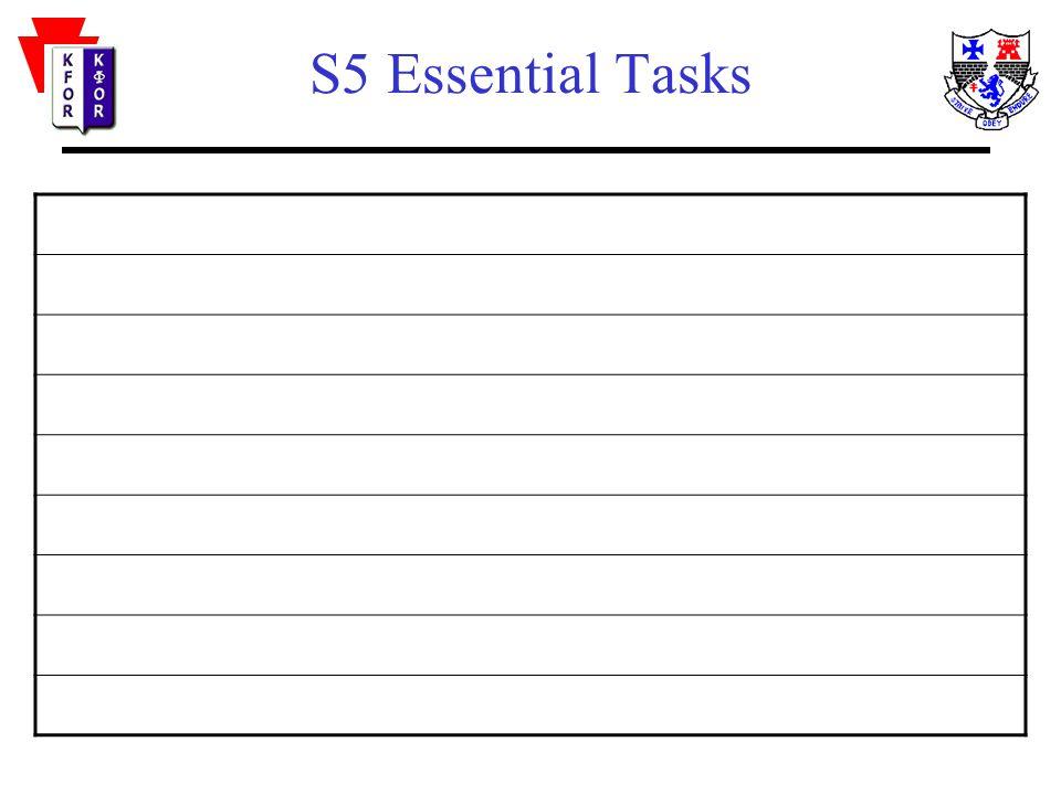 S5 Essential Tasks