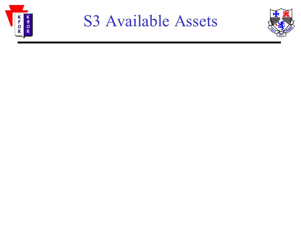 S3 Available Assets