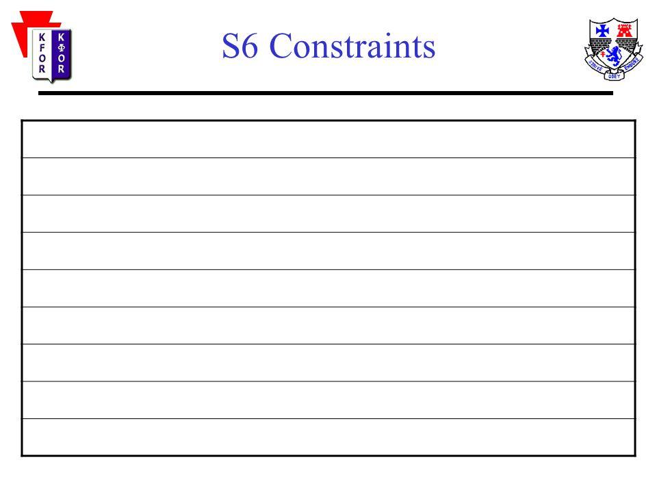 S6 Constraints