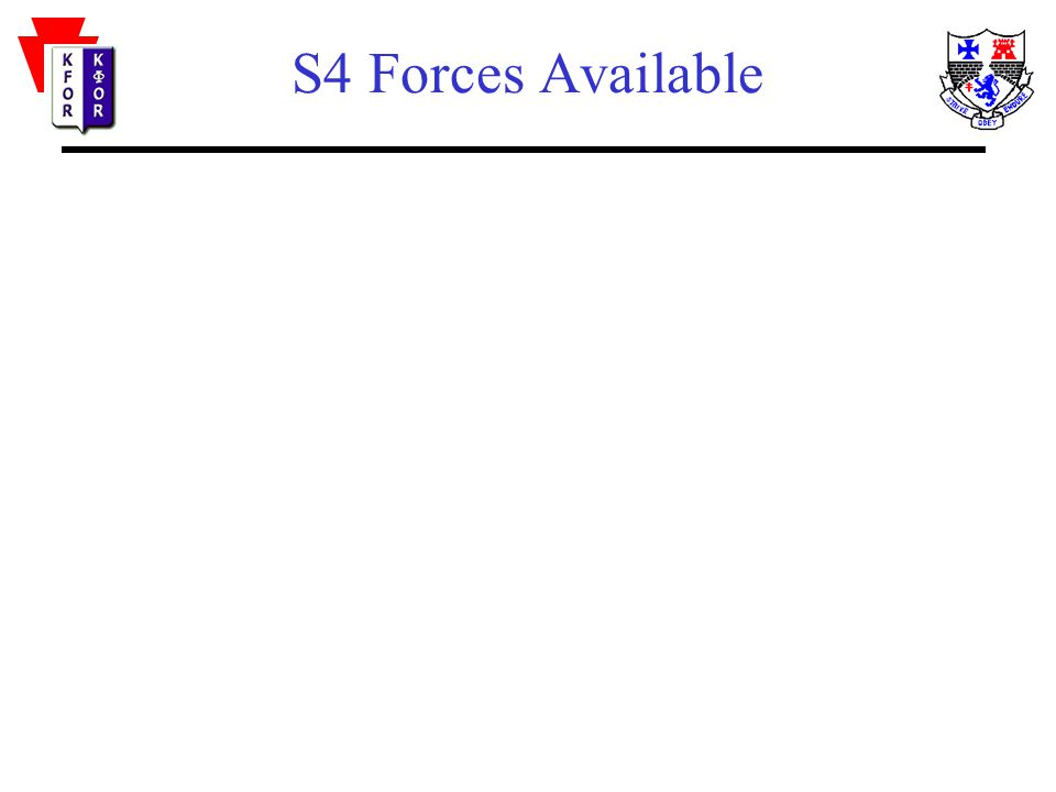 S4 Forces Available