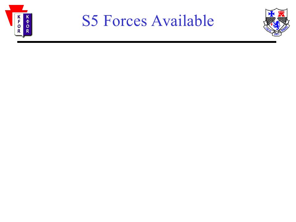 S5 Forces Available