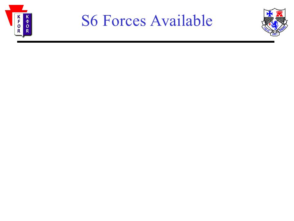 S6 Forces Available
