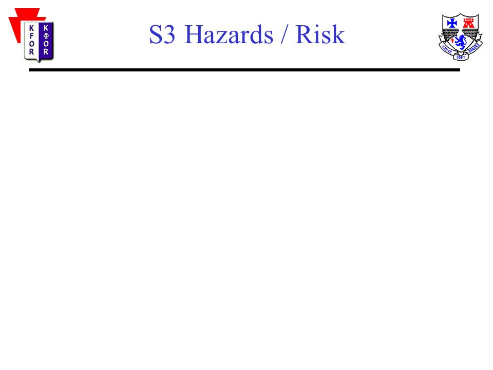 S3 Hazards / Risk