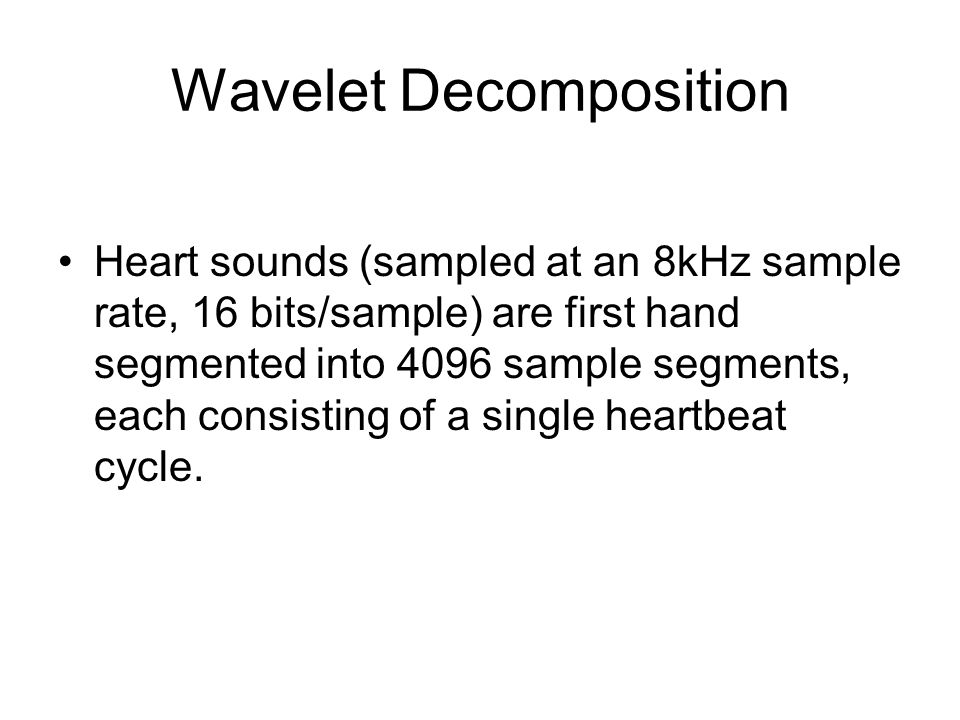Wavelet Decomposition