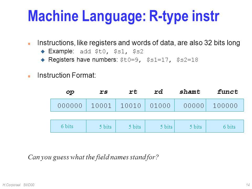 Machine Language: R-type instr
