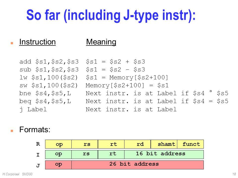 So far (including J-type instr):