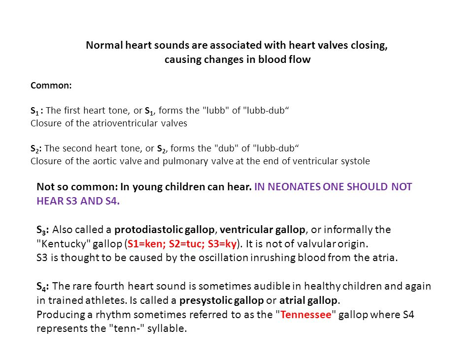 Normal heart sounds are associated with heart valves closing,
