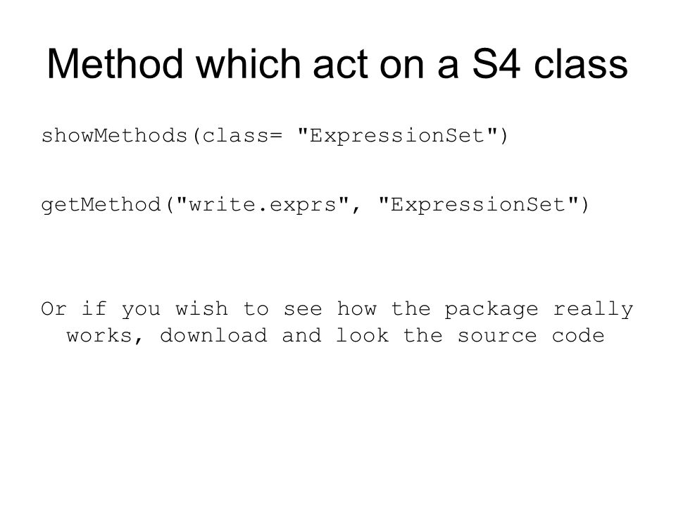 Method which act on a S4 class