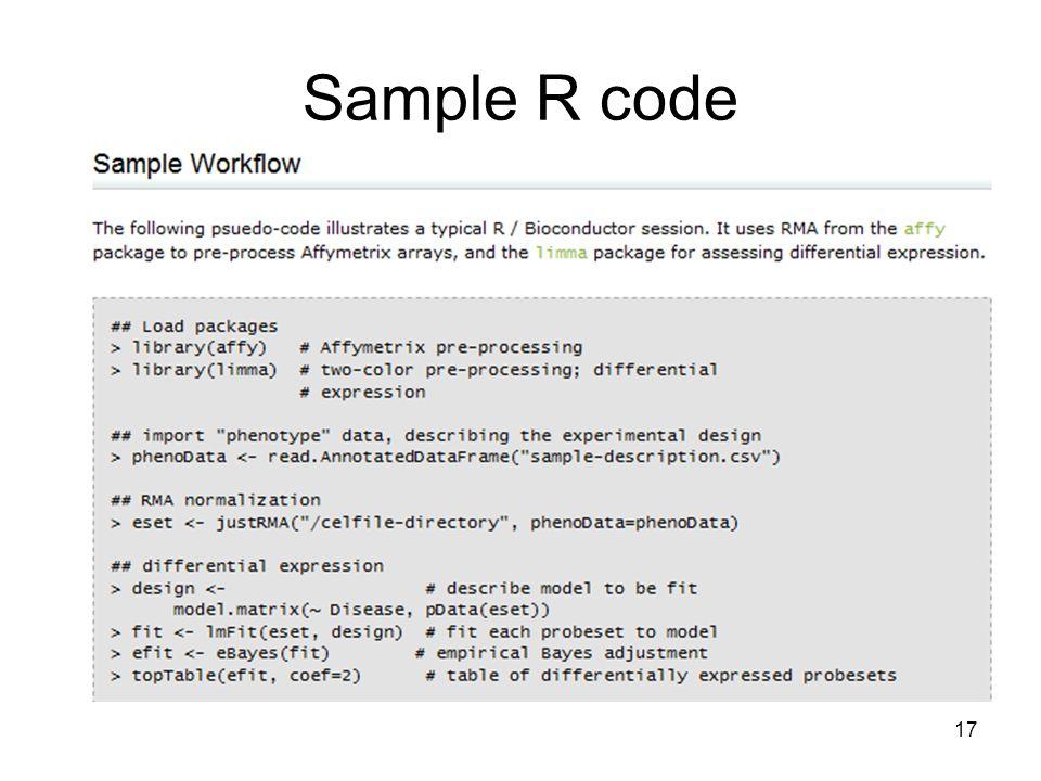Sample R code