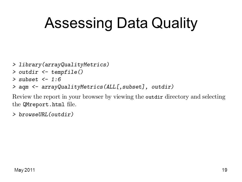 Assessing Data Quality