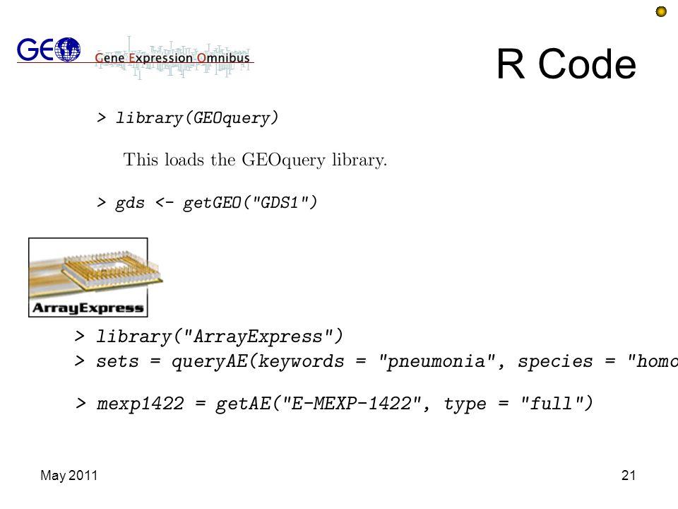 R Code May 2011