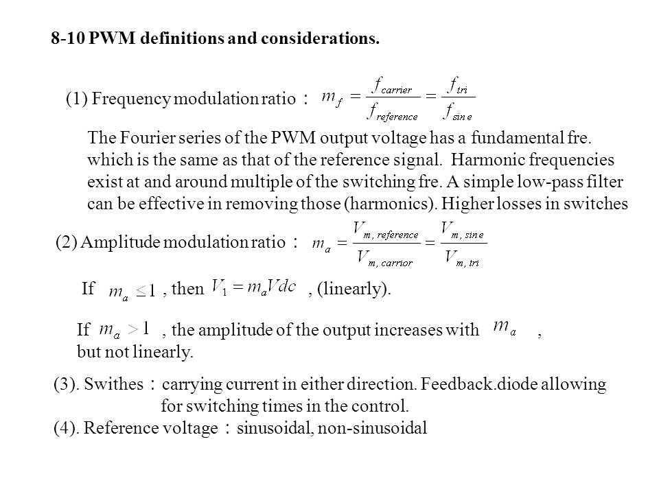 8-10 PWM definitions and considerations.