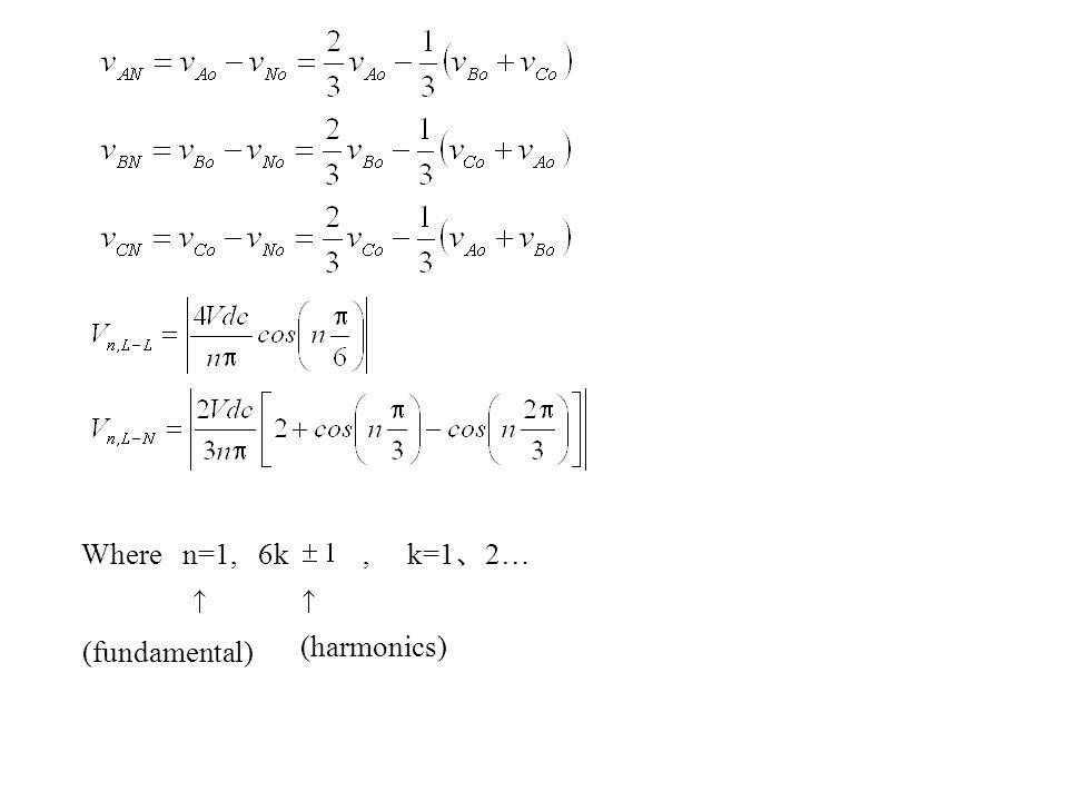 Where n=1, 6k , k=1、2… (fundamental) (harmonics)