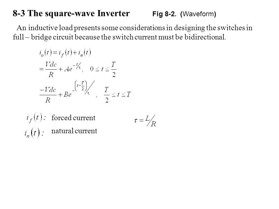 8-3 The square-wave Inverter Fig 8-2. (Waveform)