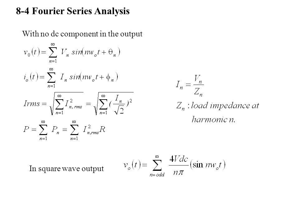 8-4 Fourier Series Analysis