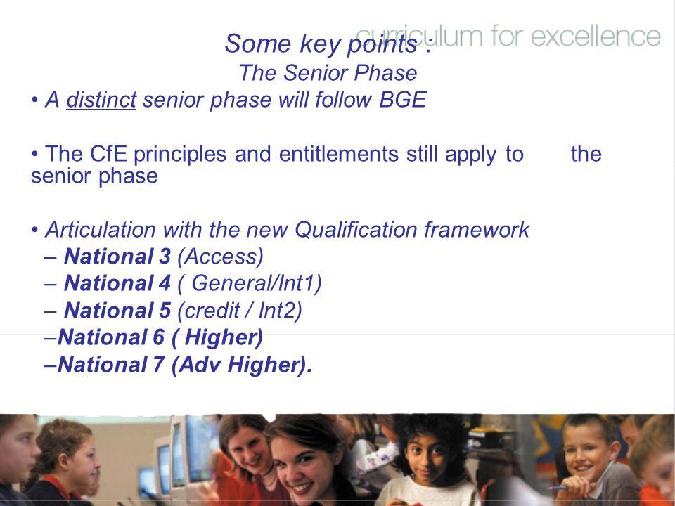 Some key points : The Senior Phase