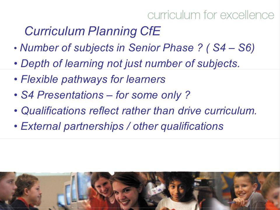 Curriculum Planning CfE