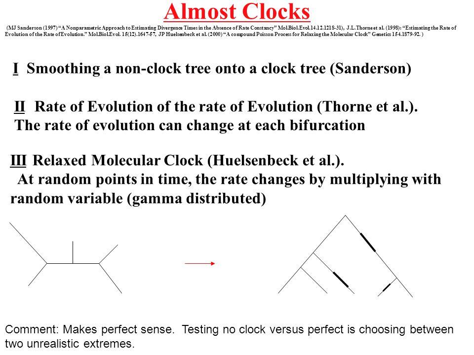 Almost Clocks