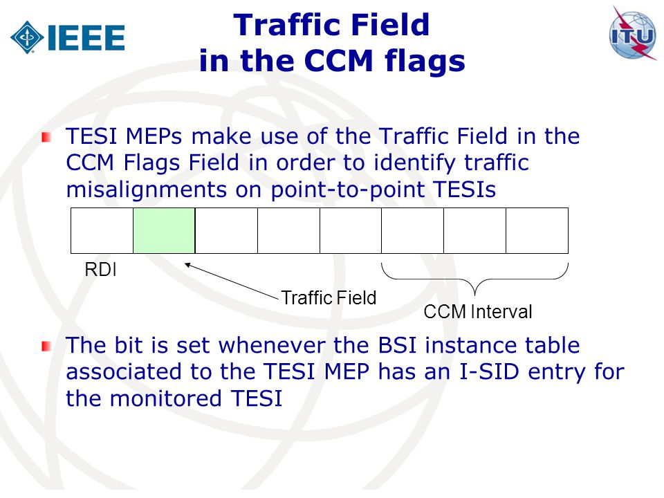 Traffic Field in the CCM flags
