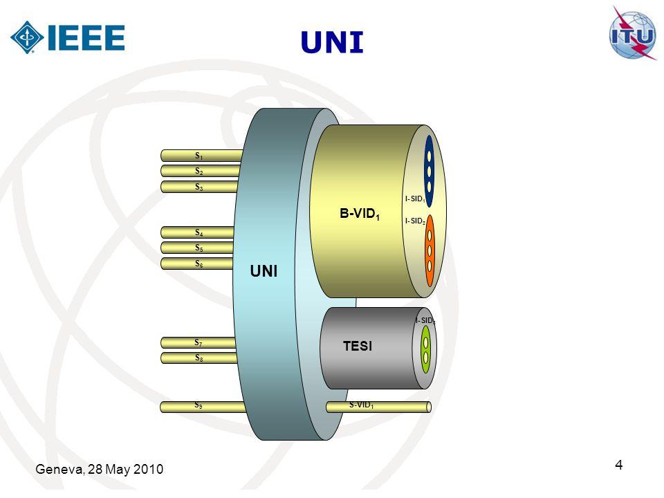 UNI UNI B-VID1 TESI 4 Geneva, 28 May 2010 4 S1 S2 S3 S4 S5 S6 S7 S8 S9