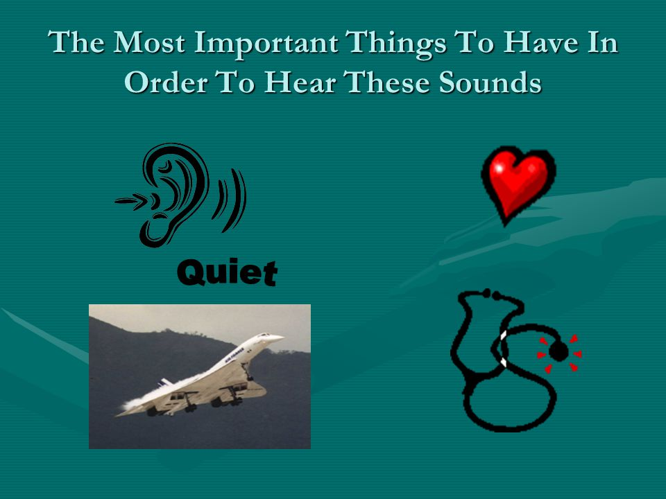 The Most Important Things To Have In Order To Hear These Sounds