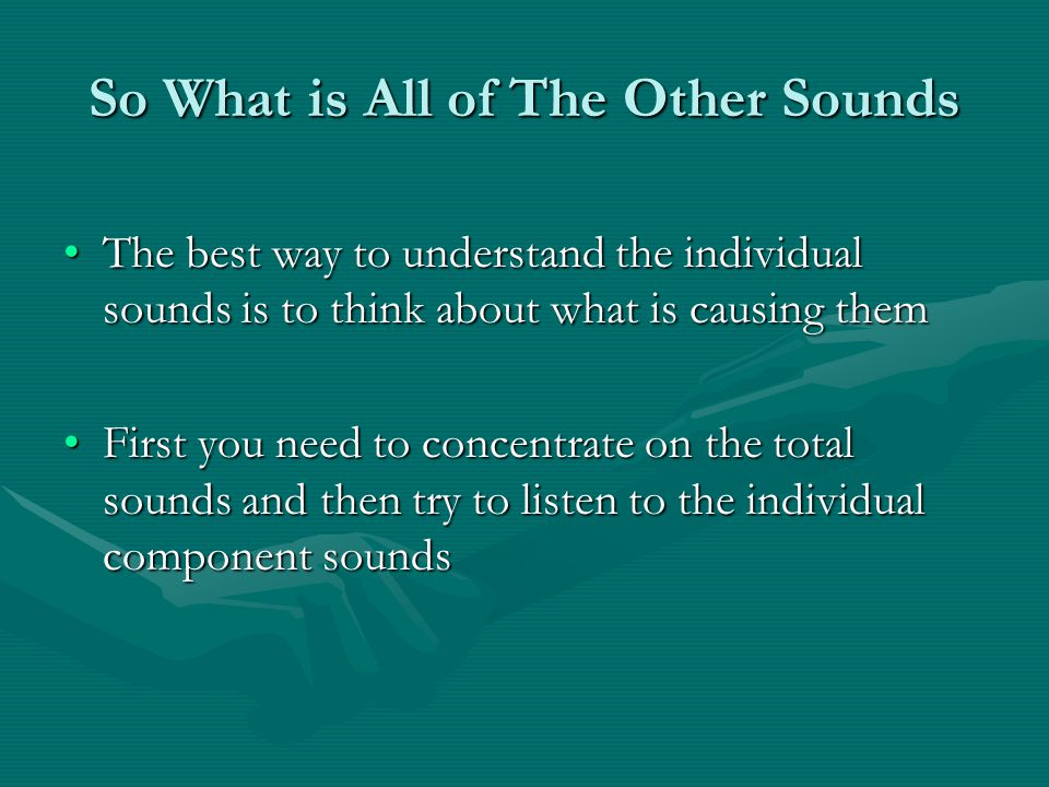 So What is All of The Other Sounds