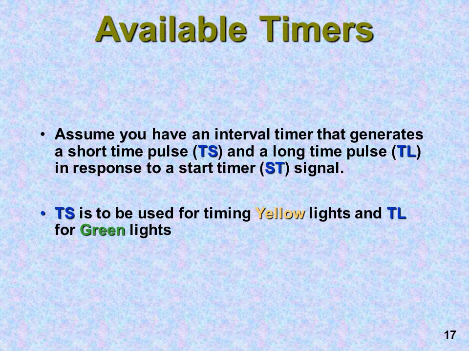 Available Timers