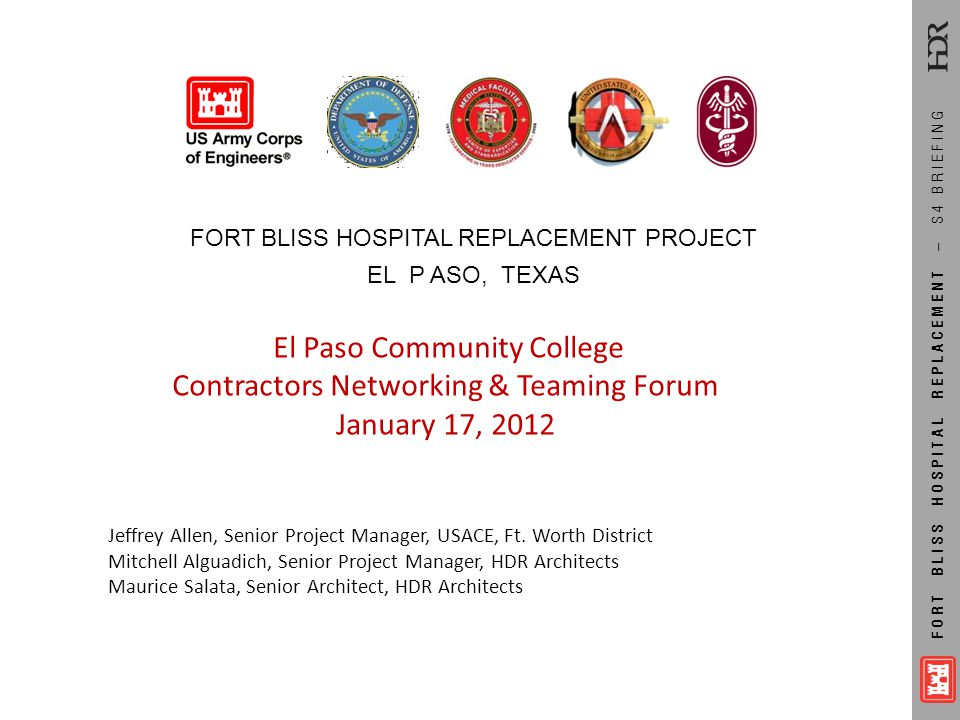 Contractors Networking & Teaming Forum January 17, 2012