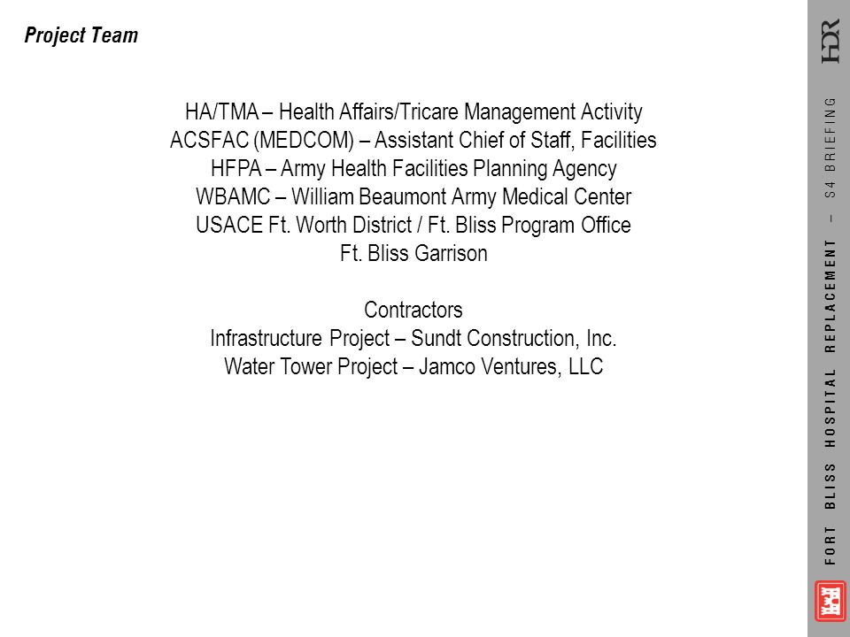 HA/TMA – Health Affairs/Tricare Management Activity