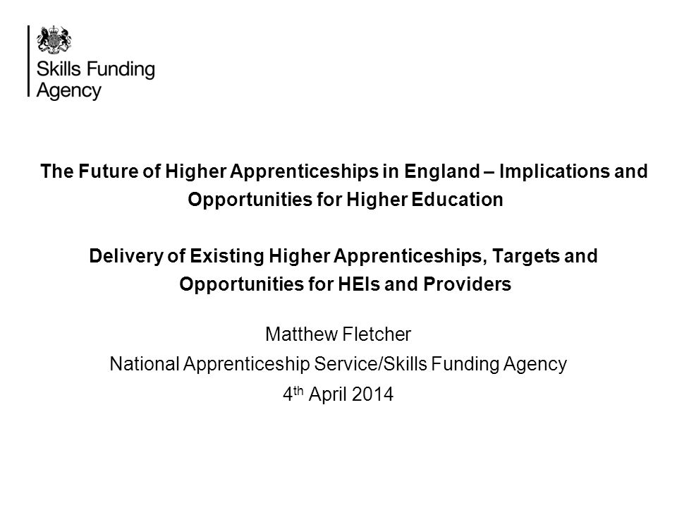 National Apprenticeship Service/Skills Funding Agency