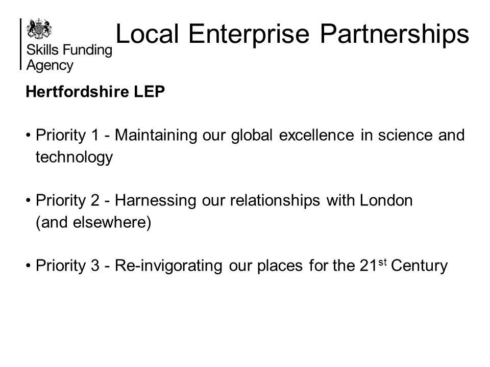 Local Enterprise Partnerships
