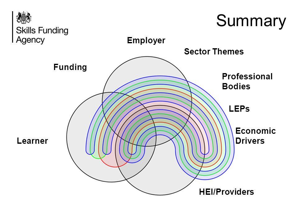 Summary Employer Sector Themes Funding Professional Bodies LEPs