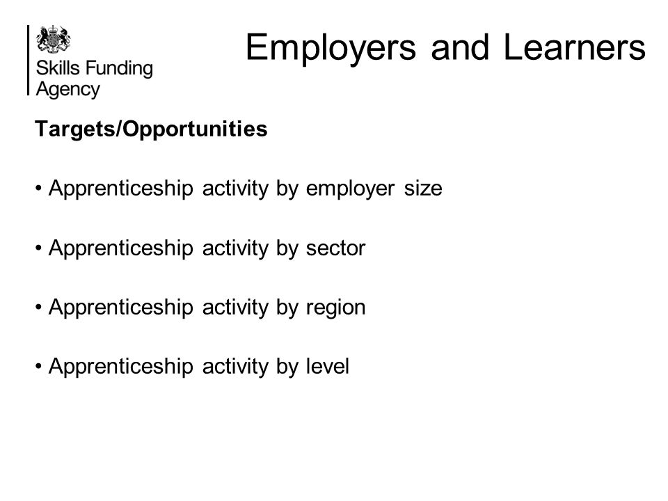 Employers and Learners