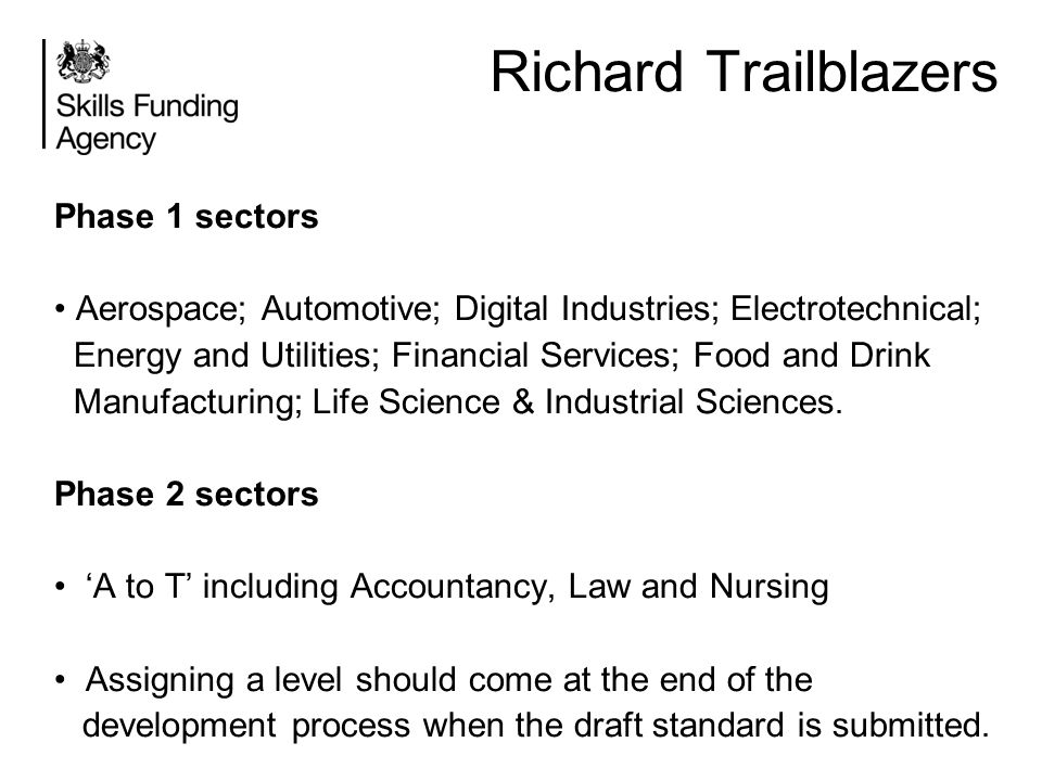 Richard Trailblazers Phase 1 sectors