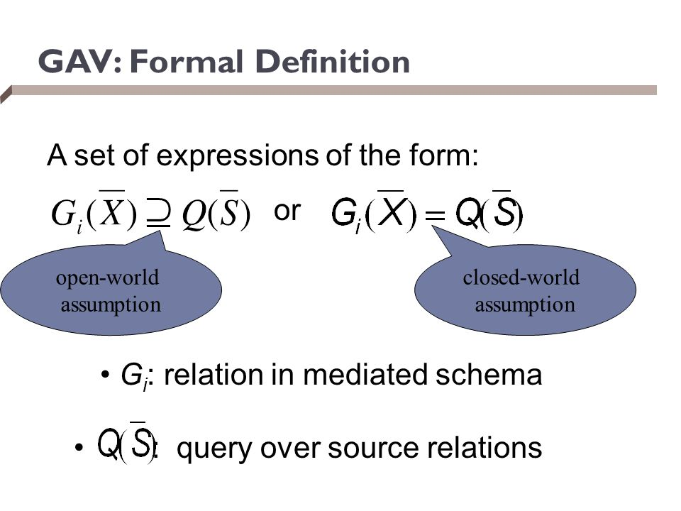 GAV: Formal Definition