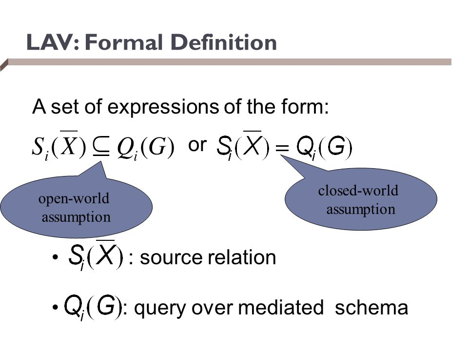 LAV: Formal Definition