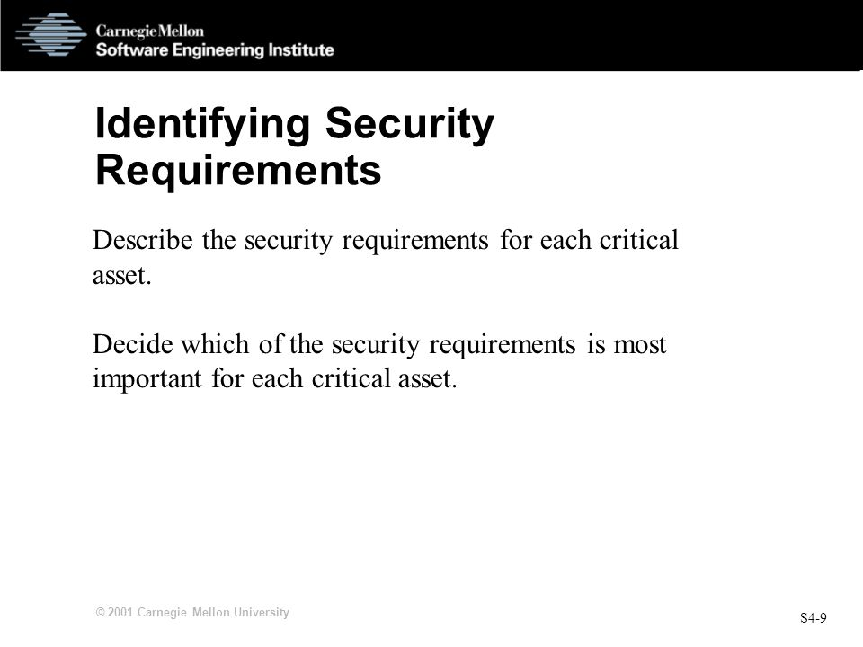 Identifying Security Requirements