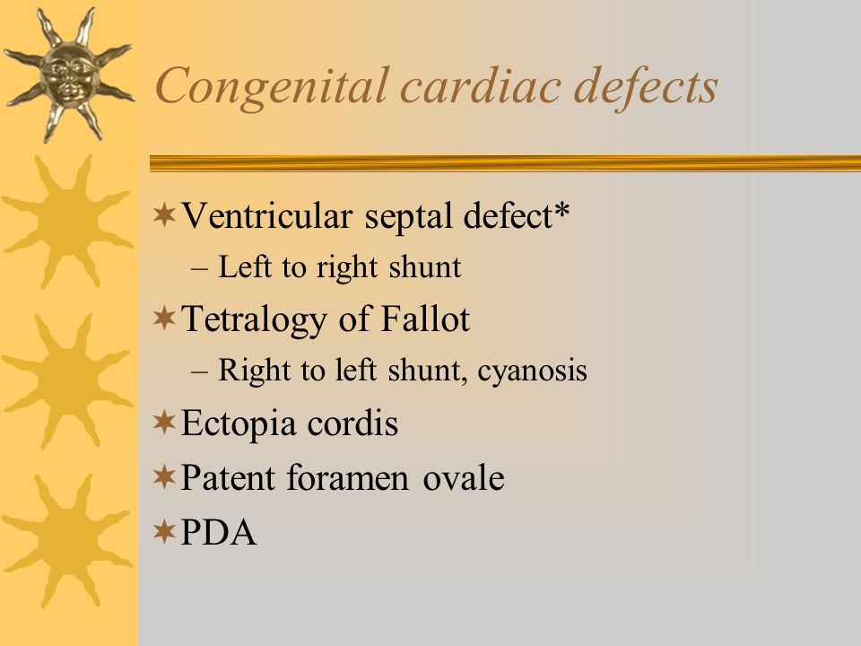 Congenital cardiac defects