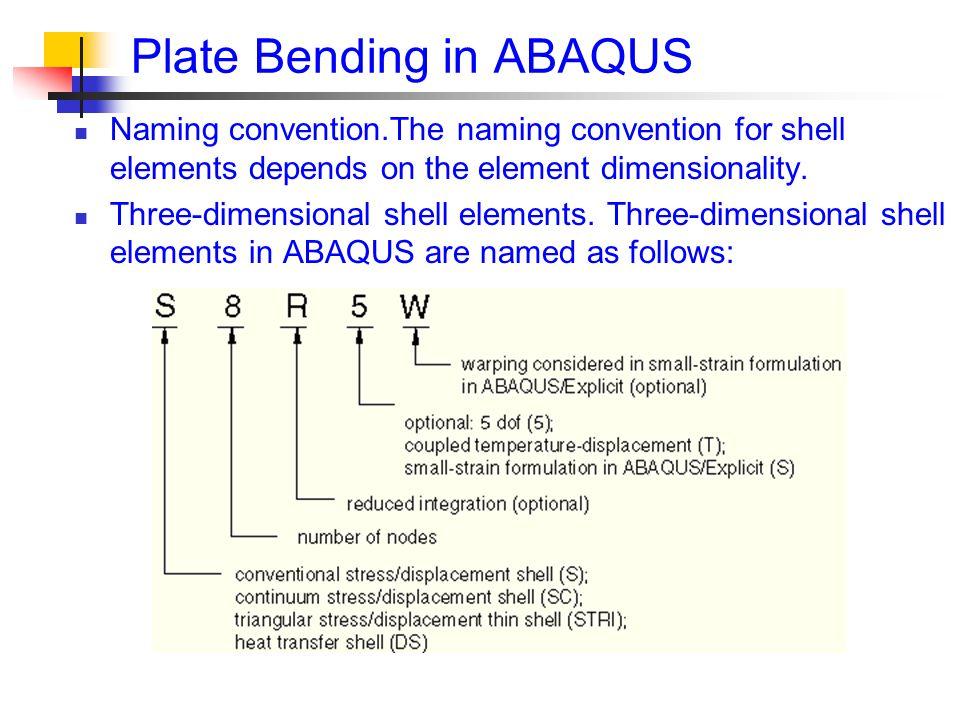 Plate Bending in ABAQUS