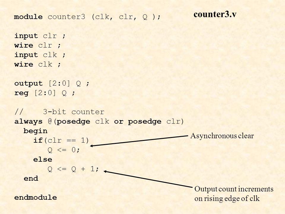 counter3.v module counter3 (clk, clr, Q ); input clr ; wire clr ;