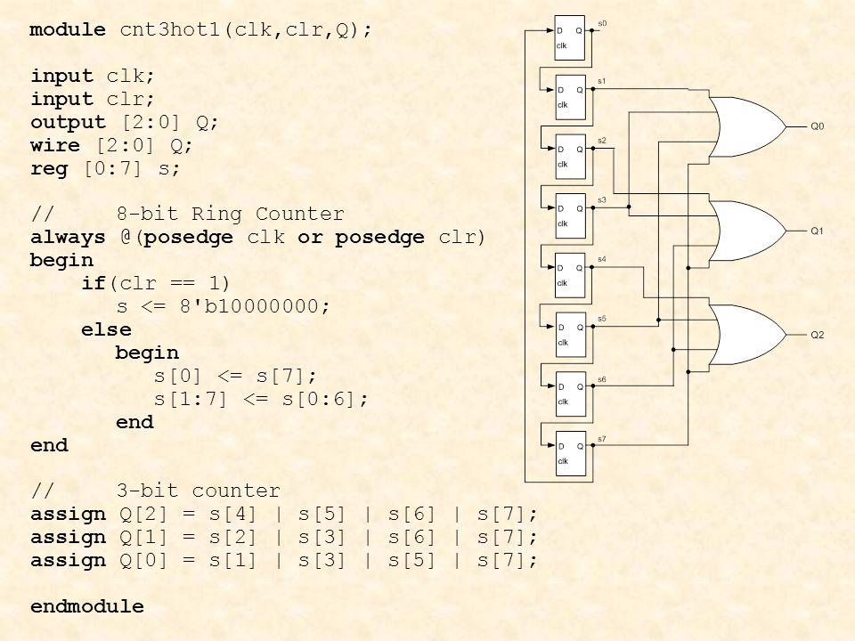 module cnt3hot1(clk,clr,Q);