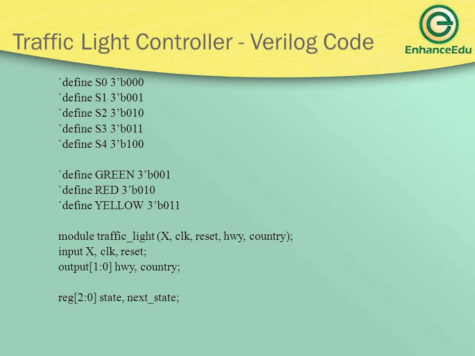 Traffic Light Controller - Verilog Code