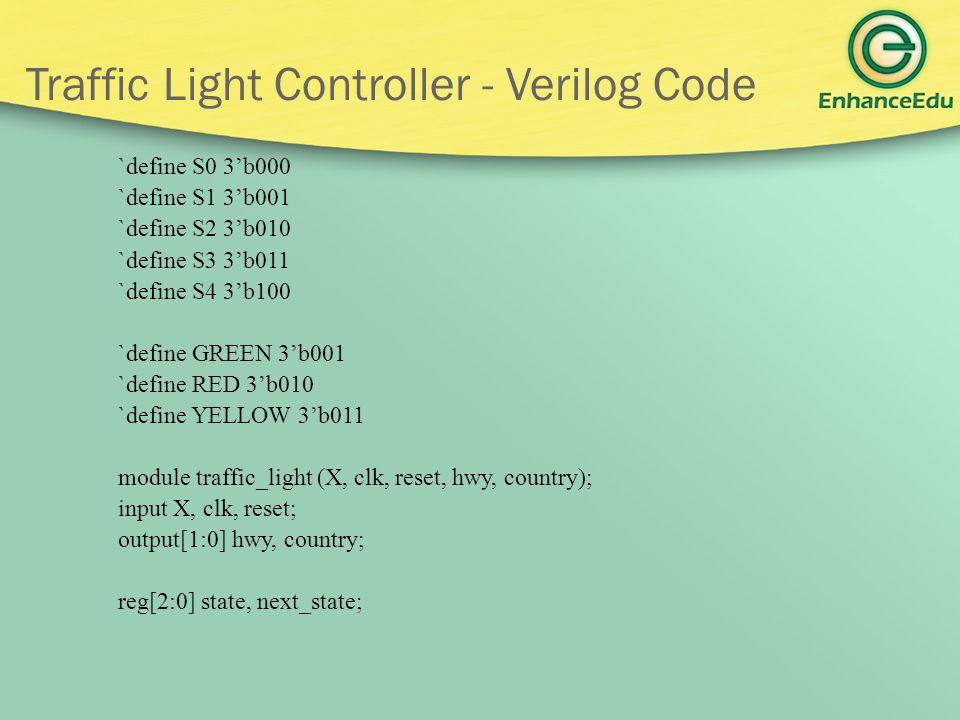 Traffic Light Controller - Verilog Code