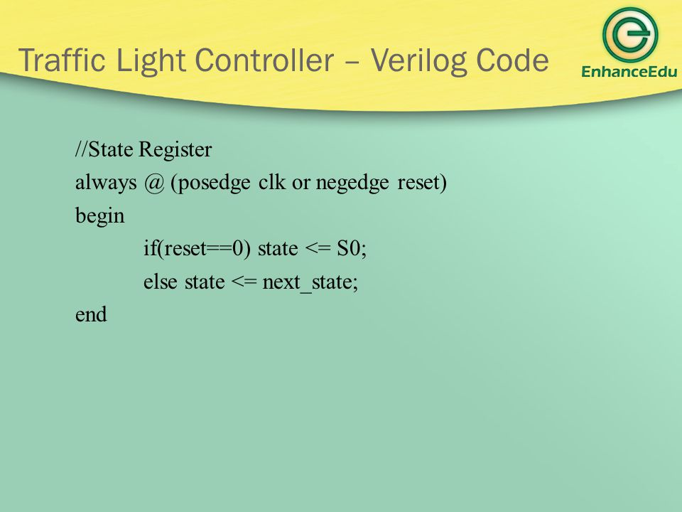 Traffic Light Controller – Verilog Code
