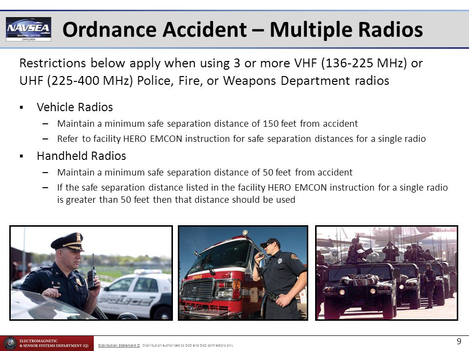 Ordnance Accident – Multiple Radios