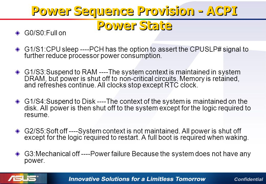 Power Sequence Provision - ACPI Power State