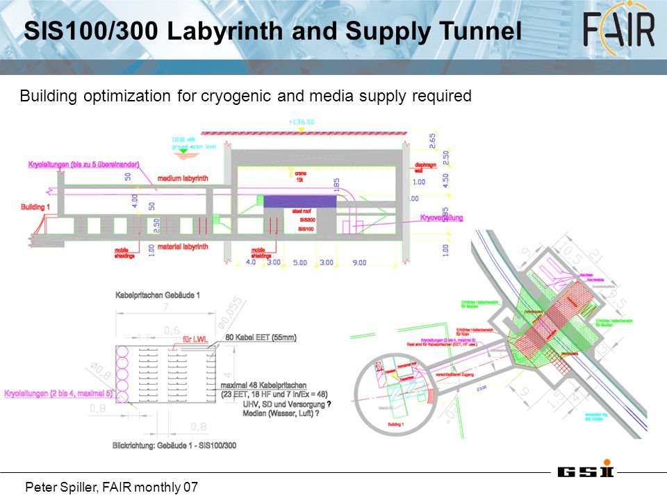 SIS100/300 Labyrinth and Supply Tunnel