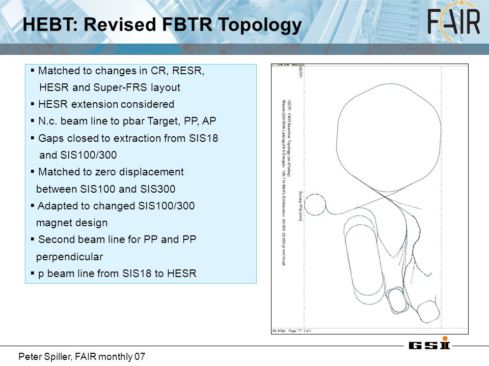 HEBT: Revised FBTR Topology